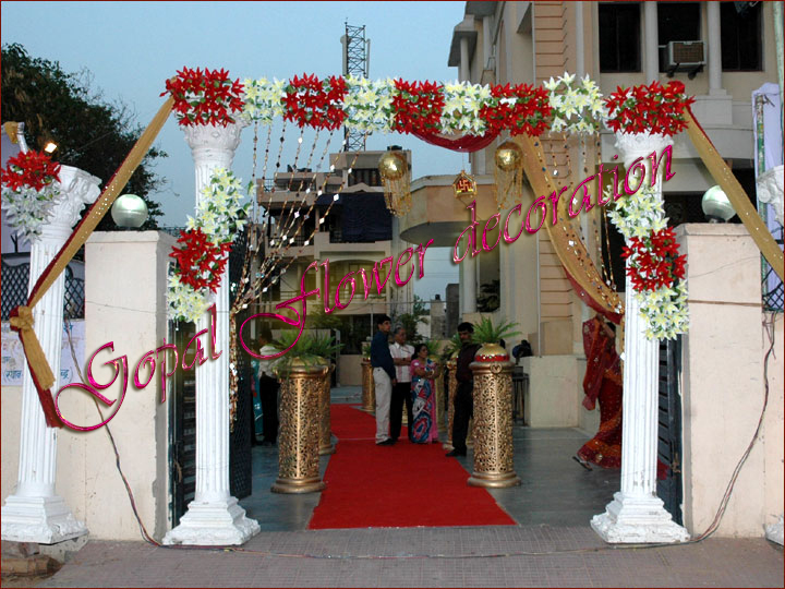 Gate Ajmer Flower Decoration