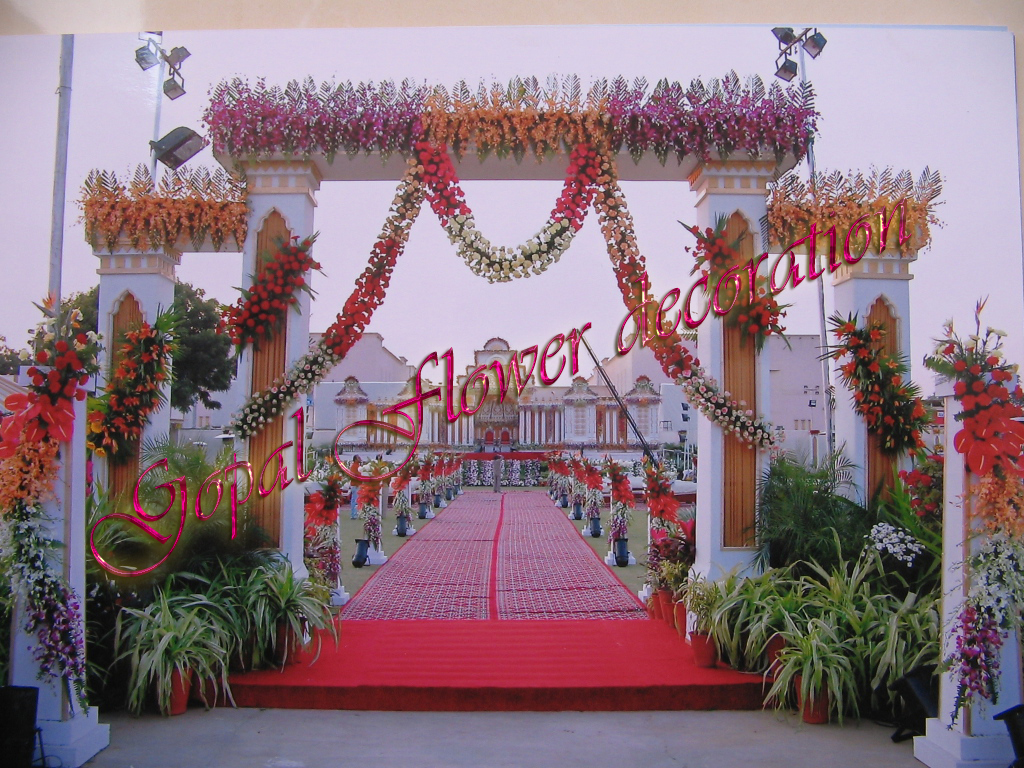 Gate ajmer flower decoration for Decoration image