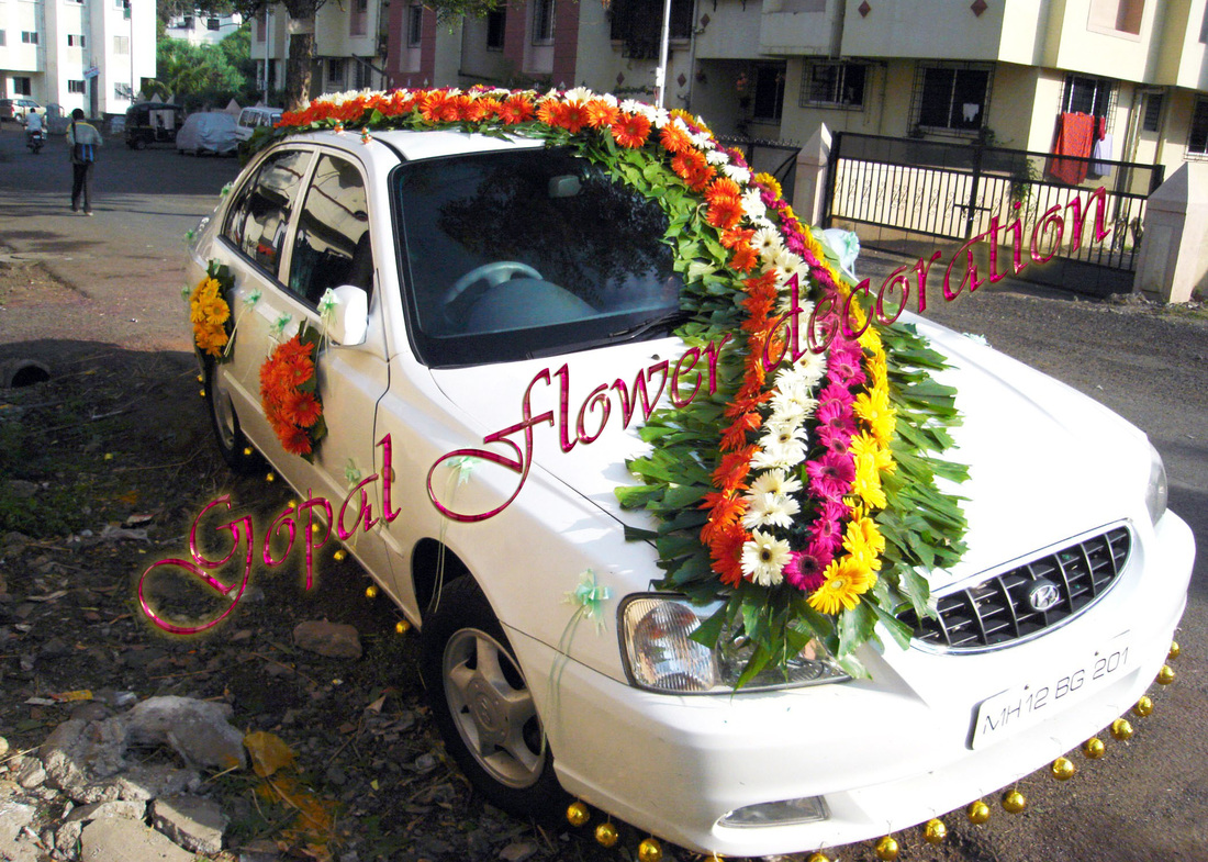 Car decoration ajmer flower decoration for Automobile decoration